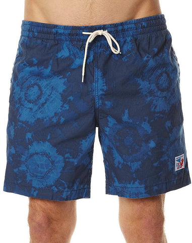 Deus Bates Tie Or Dye Shorts Navy DMP32159B Famous Rock Shop Newcastle 2300 NSW Australia.
