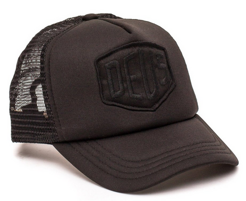 Deus Baylands Black Trucker Hat Snapback