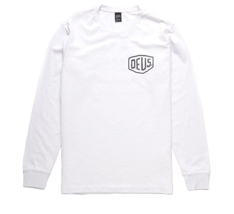 Deus Camperdown LS Tee White