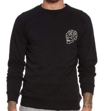 Deus Ex Machina LA Venice Address Crew Jumper - Black DMA48259A