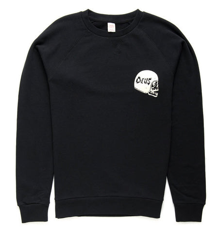 Deus Ex Machina Camperdown Address Crew Jumper - Black DMA48259B  Famous Rock Shop  Newcastle  2300 NSW Australia