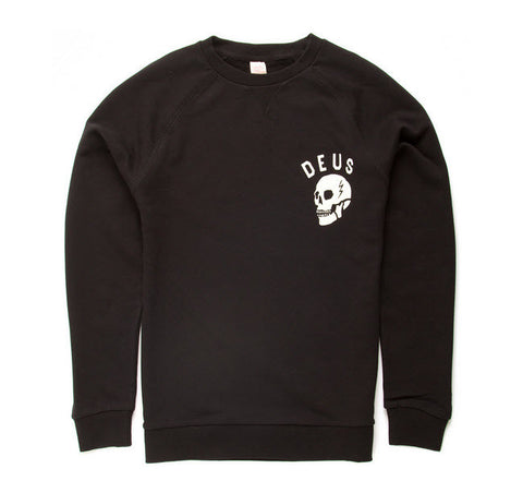 Deus Ex Machina Canggu Address Skull Crew Jumper - Black DMA48259D