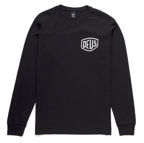 Deus Ex Machina Camperdown Long Sleeve Tee Black DMA61831A  Famous Rock Shop Newcastle 2300 NSW Australia