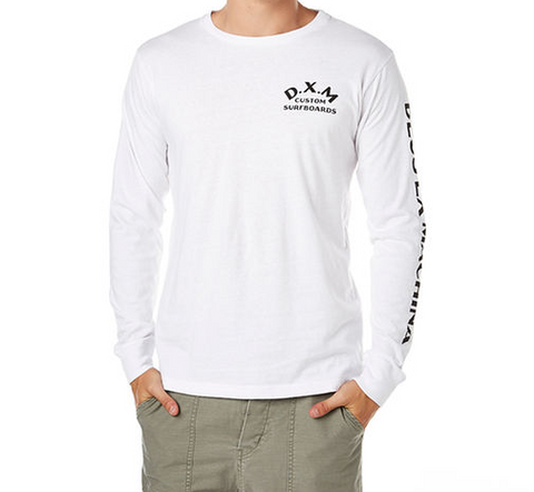 Deus Ex Machina Coil Long Sleeve Tee White DMP61102A