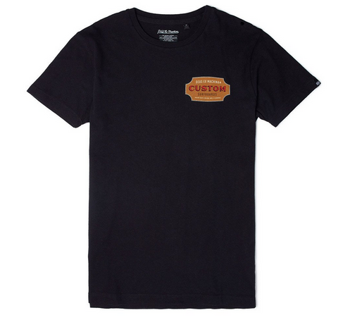Deus Ex Machina Gold Chill Tee Black DMP61101C  Famous Rock Shop Newcastle 2300 NSW Australia