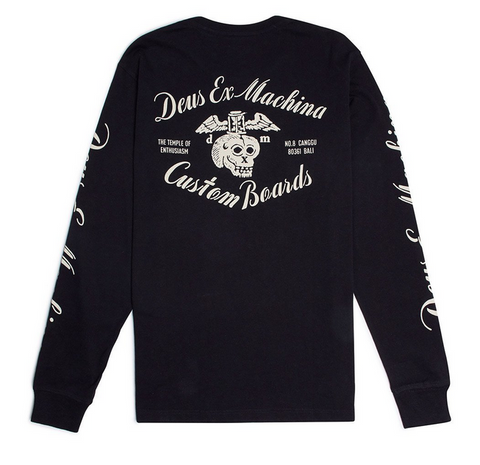 Deus Ex Machina Hourglass Long Sleeve Tee Black DMP61102B  Famous Rock Shop 517 Hunter Street Newcastle 2300 NSW Australia
