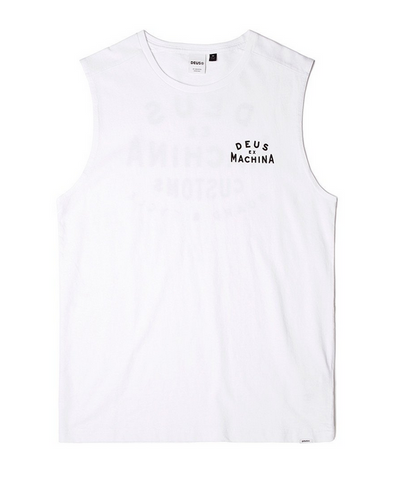 Deus Ex Machina Tension Muscle Tee White DMS61190B