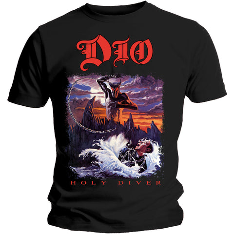 Dio Men's Tee: Holy Diver Black DIOTS01MB Dio Men's Black Tee: Holy Diver Famous Rock Shop Newcastle 2300 NSW Australia