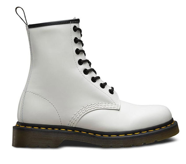 Dr Martens 1460 White Smooth Leather Boots 11822100 Famous Rock Shop Newcastle, 2300 NSW. Australia. 1