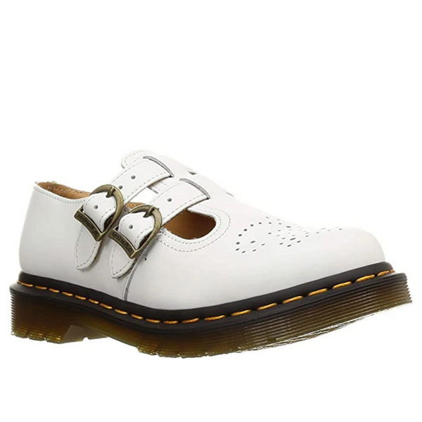 Dr Martens 8065 Mary Jane White Smooth Leather Sandals 26563100