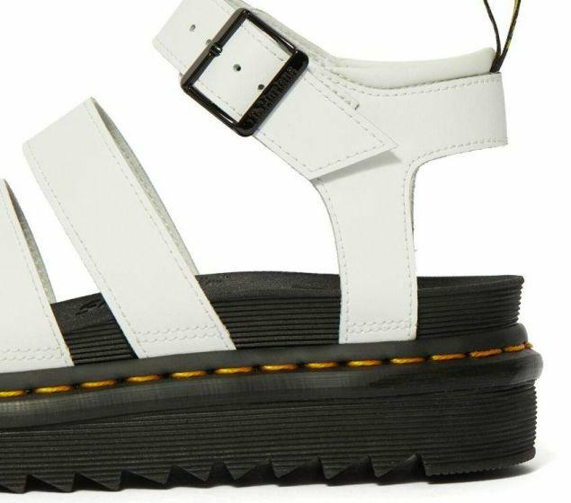 Dr Martens Blaire White Hydro Leather Sandal 25768100