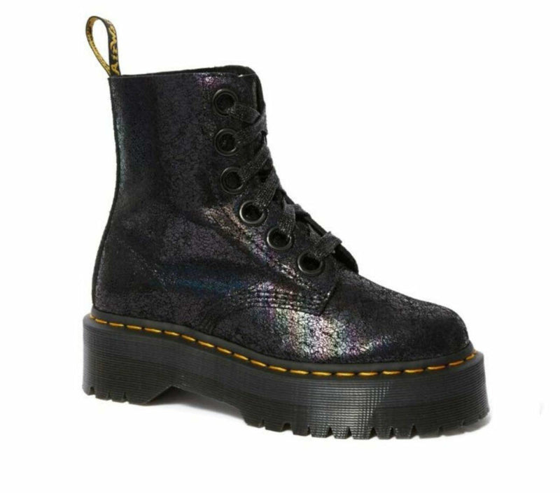 Dr Martens Molly 8 Eye Boot Iridescent Crackle 25722001 Famous Rock Shop Newcastle, 2300 NSW. Australia. 1