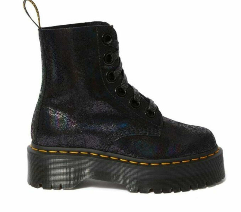 Dr Martens Molly 8 Eye Boot Iridescent Crackle 25722001 Famous Rock Shop Newcastle, 2300 NSW. Australia. 2
