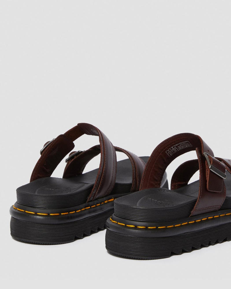 Dr Martens Myles Charro Brando Leather Buckle Slide Sandals 23523211