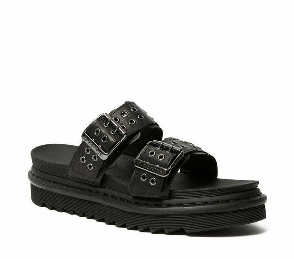 Dr Martens Myles Stud Black Sandals 25447001 Famous Rock Shop Newcastle, 2300 NSW. Australia. 1
