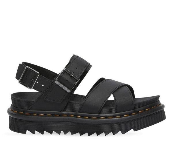 Dr Martens Voss II Black Hydro Leather Sandals 26799001
