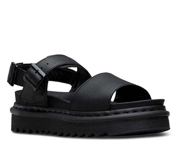 Dr Martens Voss Sandal Black Hydro Leather 23802001 Famous Rock Shop Newcastle, 2300 NSW. Australia. 1