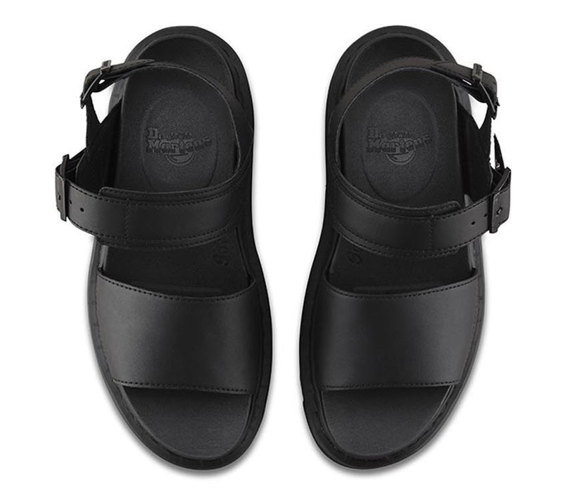 Dr Martens Voss Sandal Black Hydro Leather 23802001 Famous Rock Shop Newcastle, 2300 NSW. Australia. 3