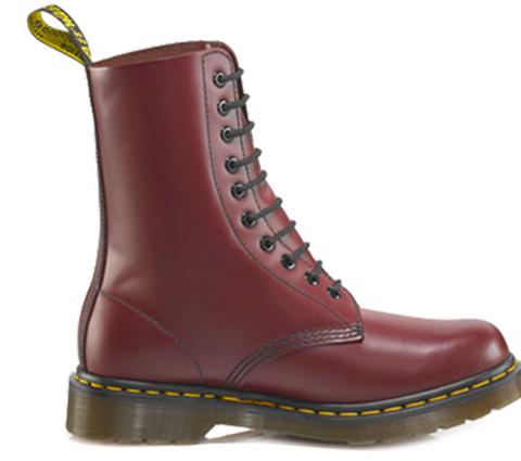 Dr Martens 1490 Cherry 10 Hole Leather Boots 11857600