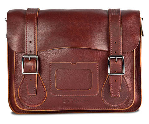 "Dr Martens 11"" Ox Blood Leather Satchel"