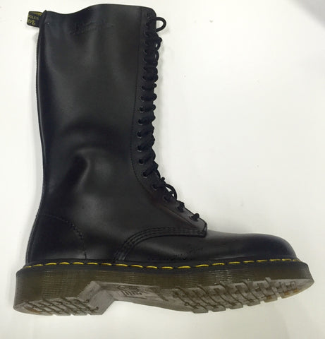 Dr Martens 1420 20 Hole Black Smooth Leather Boot