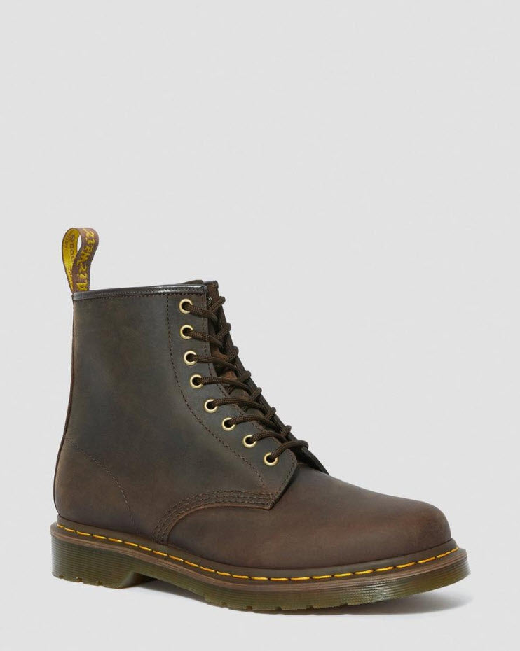 Dr Martens 1460 Gaucho Brown Boots  Crazy Horse 11822203 Famous Rock Shop Newcastle, 2300 NSW. Australia. 1