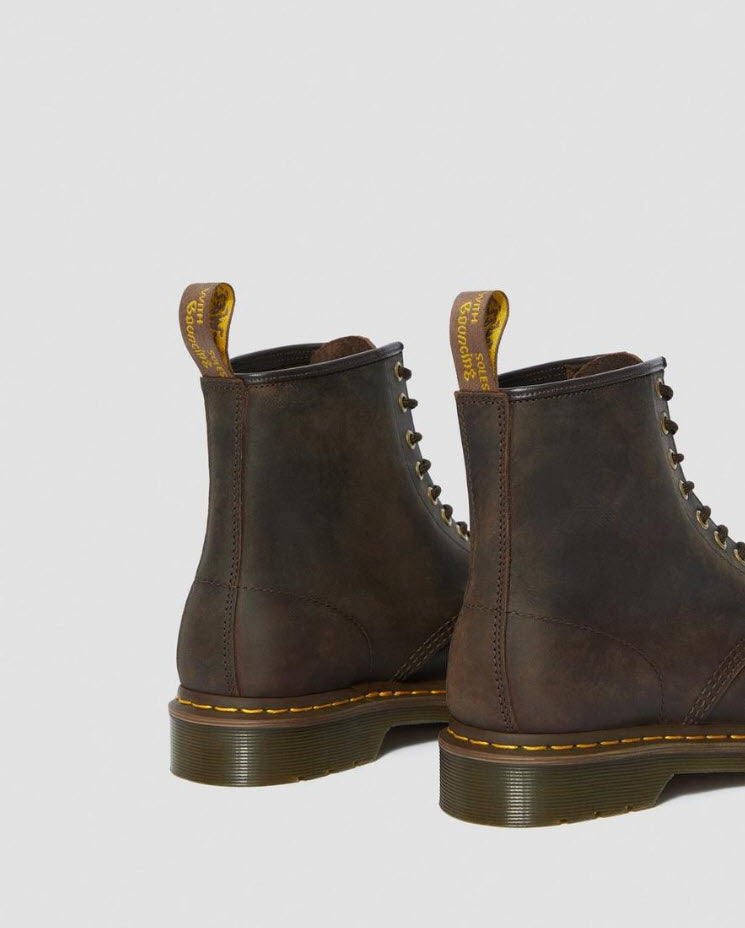 Dr Martens 1460 Gaucho Brown Boots  Crazy Horse 11822203 Famous Rock Shop Newcastle, 2300 NSW. Australia. 3