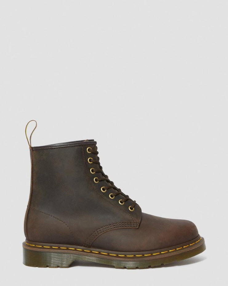 Dr Martens 1460 Gaucho Brown Boots  Crazy Horse 11822203 Famous Rock Shop Newcastle, 2300 NSW. Australia. 4