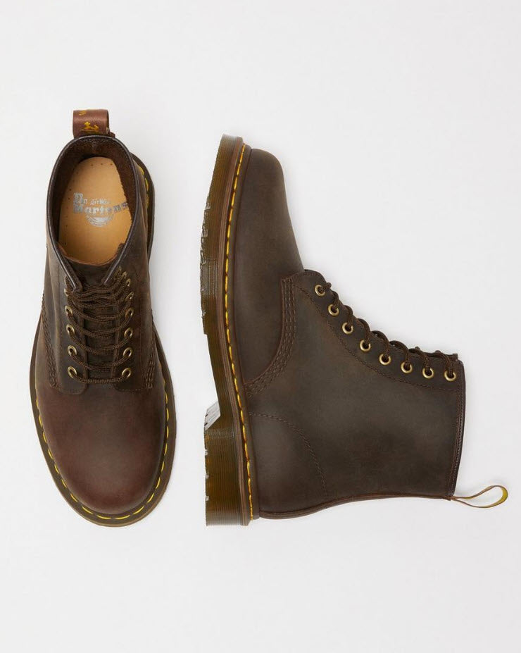 Dr Martens 1460 Gaucho Brown Boots  Crazy Horse 11822203 Famous Rock Shop Newcastle, 2300 NSW. Australia. 7