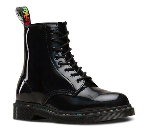 Dr Martens 1460 Rainbow Patent Black Rainbow 24667001 Famous Rock Shop Newcastle, 2300 NSW. Australia. 1