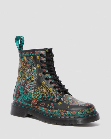Dr Martens 1460 Skull 8 Hole Boot Multi 25377102 Famous Rock Shop Newcastle, 2300 NSW Australia. 1
