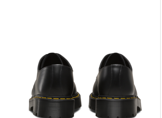 Doctor Martin Dr.Martens 3 hall shoes Beck soot mousse 1461 BEX SMOOTH men gap Dis thickness bottom shoes BLACK (21084001 SS19)