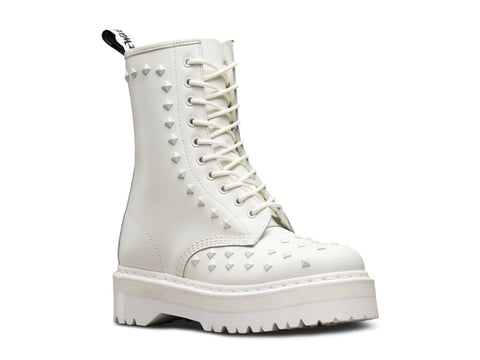 Dr Martens 1490 STUD White Smooth 23339100 Famous Rock Shop Newcastle 2300 NSW Australia