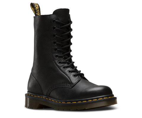 Dr Martens 1490 Virginia Black 10 Hole Boot 22524001