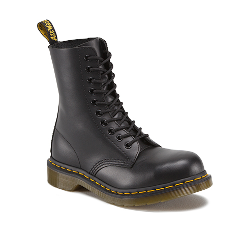 f95e6f190aaa4 Dr Martens 1919 10 Eyelet Steel Cap Black Leather Boot – Famous Rock ...