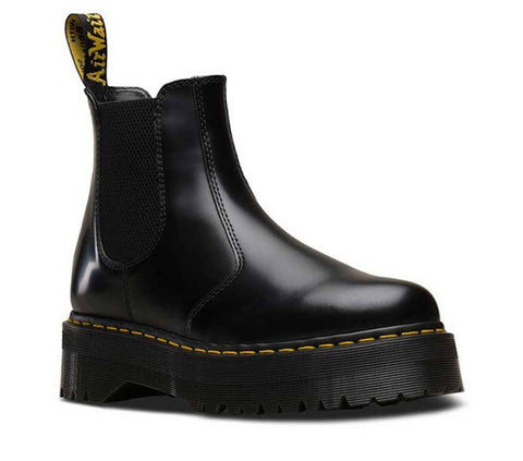Dr Martens 2976 Quad Black Polished Smooth 24687001 Famous Rock Shop Newcastle, 2300 NSW. Australia. 1