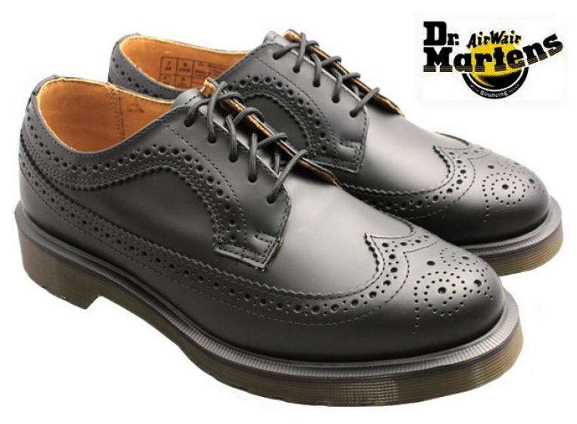 Black dress up gloves - Dr Martens 3989 Black Brogue Shoe Famous Rock Shop
