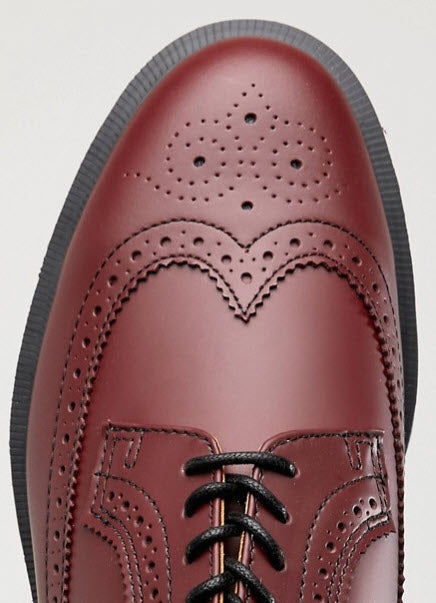 Dr Martens 3989 Brogue Cherry Leather Shoe