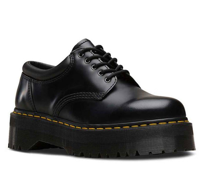 Dr Martens 8053 Quad Black Polish Smooth 24690001 Famous Rock Shop Newcastle, 2300 NSW. Australia. 1