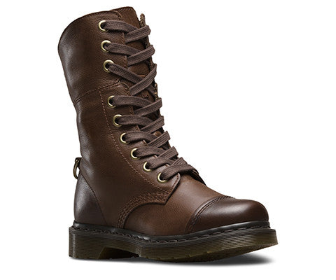Dr Martens Aimilita Dark Brown Darkened Mirage Boot
