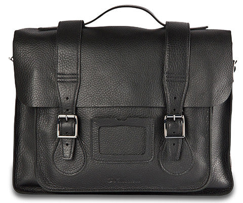 "Dr Martens 11"" Black Leather Satchel"