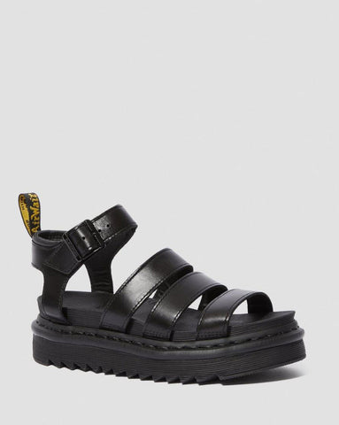 Dr Martens Blaire Brando Leather Strap Sandal Black 24191001 Famous Rock Shop Newcastle, 2300 NSW. Australia. 1