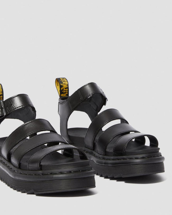 Dr Martens Blaire Brando Leather Strap Sandal Black 24191001 Famous Rock Shop Newcastle, 2300 NSW. Australia. 3