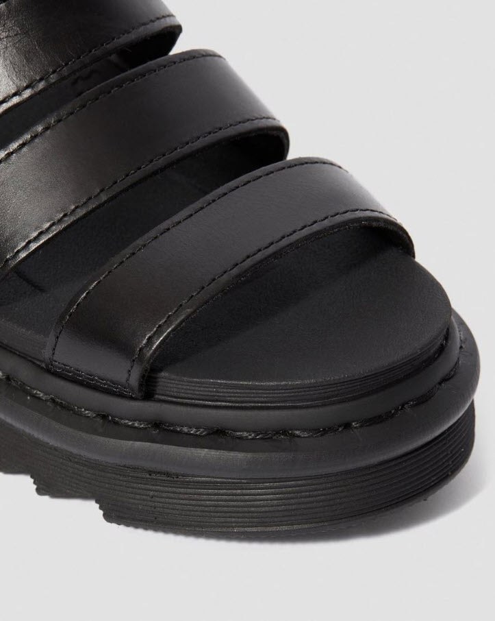 Dr Martens Blaire Brando Leather Strap Sandal Black 24191001 Famous Rock Shop Newcastle, 2300 NSW. Australia. 6