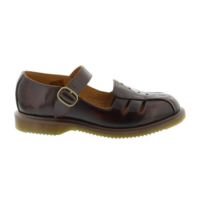 Dr Martens Deardra Cherry Red Arcadia Leather Sandals