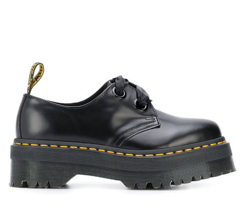 Dr Martens Holly Leather Platform Shoes Black