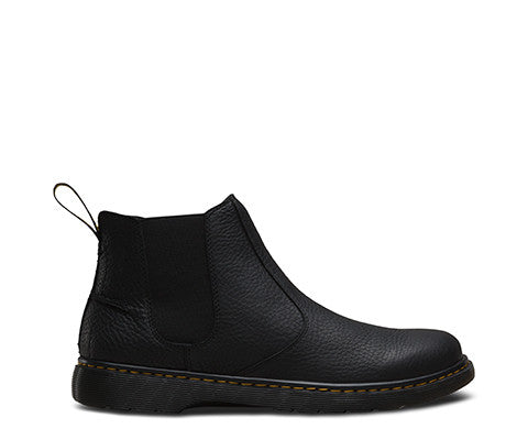 Dr Martens Lyme Chelsea Black Grizzly Leather Boots 20868001