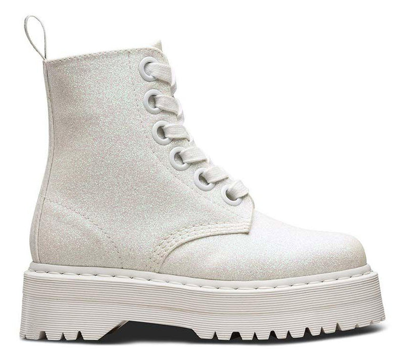 Dr Martens Molly Glitter Iridescent White Glitter PU 24860123 Famous Rock Shop Newcastle, 2300 NSW Australia. 2