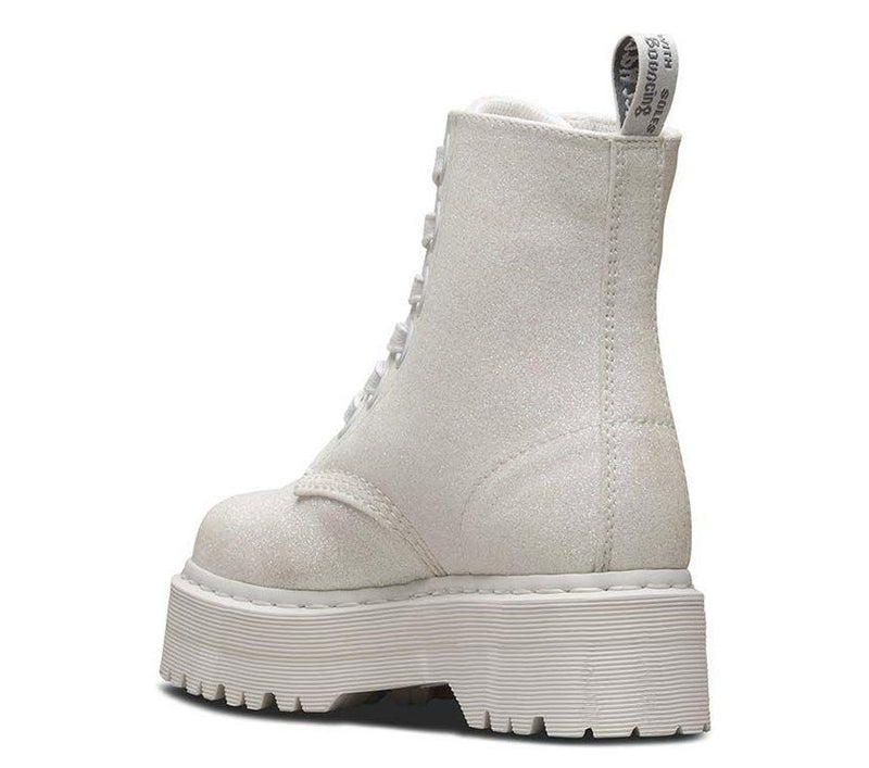 Dr Martens Molly Glitter Iridescent White Glitter PU 24860123 Famous Rock Shop Newcastle, 2300 NSW Australia. 4
