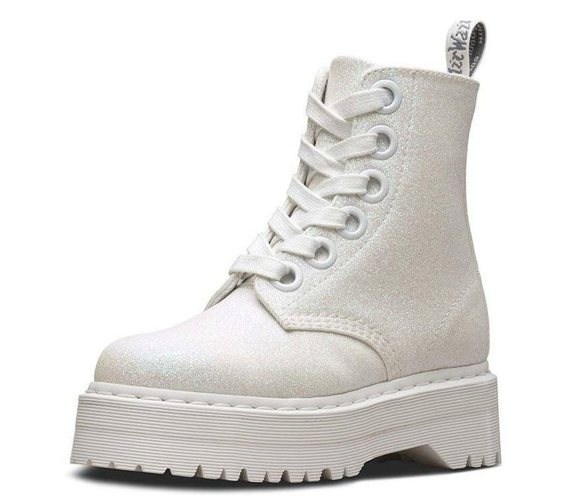 Dr Martens Molly Glitter Iridescent White Glitter PU 24860123 Famous Rock Shop Newcastle, 2300 NSW Australia. 5